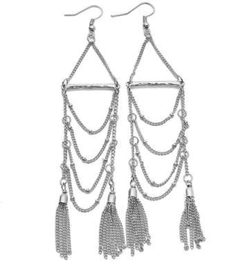 Riah Fashion Tassel Chain Dangle Earrings