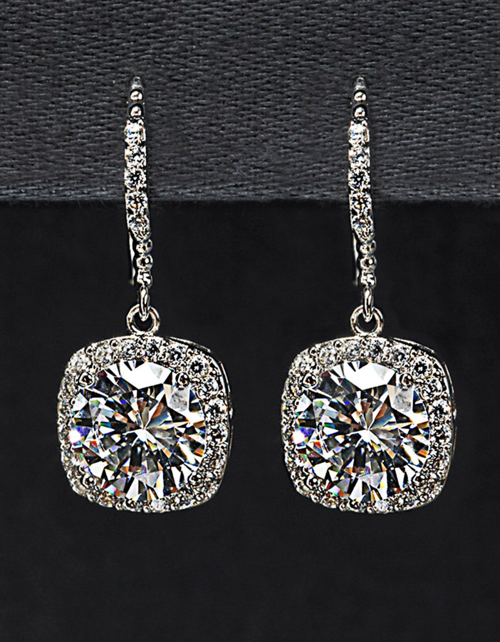 NINA Mirabella Crystal Drop Earrings