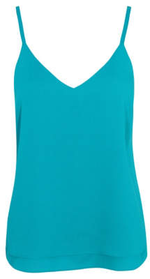 George Turquoise Double Layer Camisole Top
