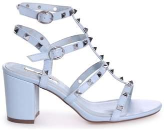 d504ca409b19 Linzi TESSA - Blue Studded Block Heeled Sandal