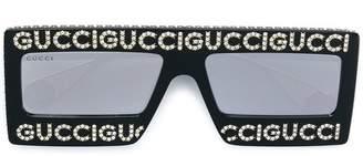 Gucci embellished logo sunglasses