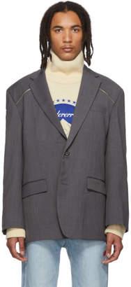 ADER error Grey Zip Blazer