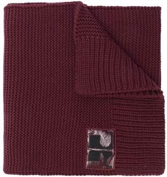 Courreges logo rib knit scarf