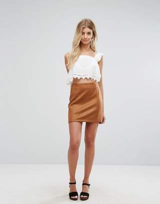 New Look Tan Suedette Mini Skirt