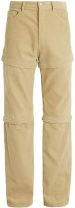 Balenciaga Detachable-panel cotton-corduroy trousers