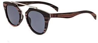 Earth Wood Ceira Wood Sunglasses Polarized Cateye Brown