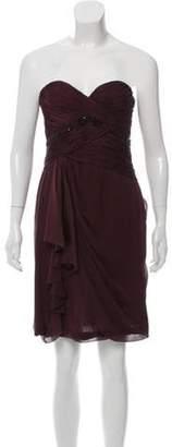 J. Mendel Silk Strapless Mini Dress Plum Silk Strapless Mini Dress