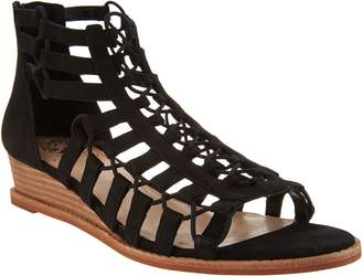 Vince Camuto Leather Gladiator Wedge Sandals - Richetta