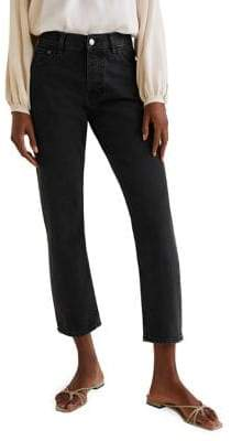 MANGO Organic Sayana Mid-Rise Cropped Jeans