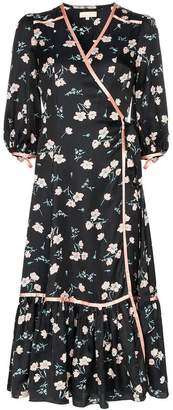 By Ti Mo By Timo floral print contrast trim wrap dress