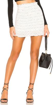 superdown Amanda Smocked Skirt