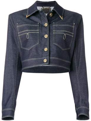 Versace structured denim jacket