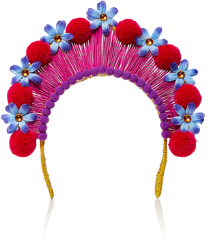 Magnetic Midnight Pompom Crown