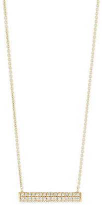 Sydney Evan Pave Diamond Bar Roll Necklace