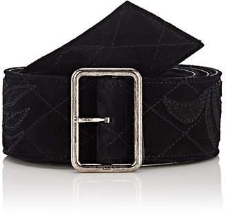 67bd9736328 Saint Laurent Women s Floral Suede Belt - Black