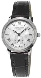 Frederique Constant Classics Slimline Stainless Steel & Leather-Strap Watch