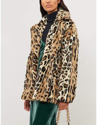 Free People Kate leopard-print faux-fur jacket