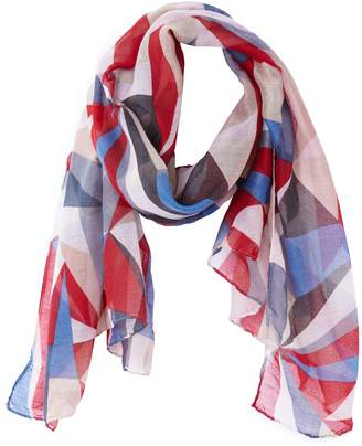 c361ee617df4 at La Redoute · La Redoute COLLECTIONS Multi-Coloured Triangle Print Scarf