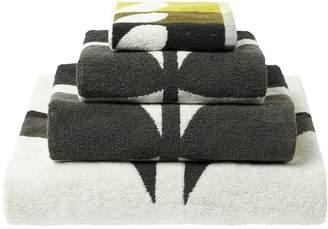 Orla Kiely House Large Stem Towel Range Dark - Duck Egg