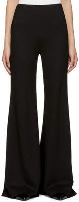 Rosetta Getty Black Fitted Straight Flare Trousers