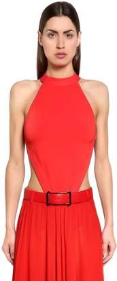 Elie Saab Open Back Viscose Knit Bodysuit