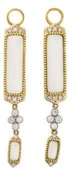 Jude Frances 18K Diamond-Accented Moonstone Moroccan Marrakesh Earring Enhancers