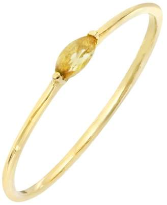Bony Levy Iris 18K Yellow Gold Prong Set Marquise Cut Citrine Ring