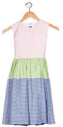 Oscar de la Renta Girls' Sleeveless A-Line Dress