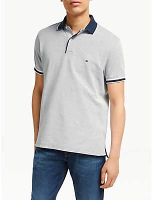 0fbae9bd at John Lewis and Partners · Tommy Hilfiger Oxford Cotton Slim Polo Shirt,  Sky Captain