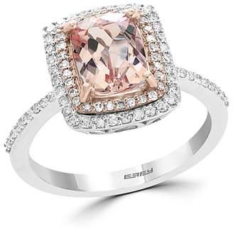 Bloomingdale's Morganite & Diamond Statement Ring in 14K White Gold - 100% Exclusive