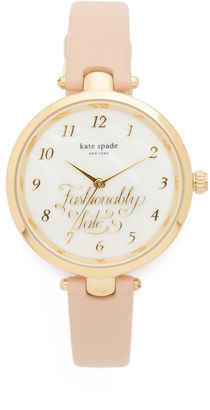 Kate Spade New York Holland Fashionably Late Watch $195 thestylecure.com