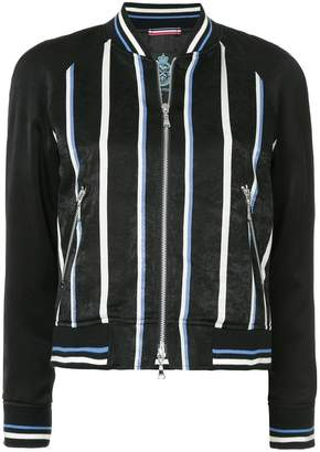 GUILD PRIME striped bomber jacket