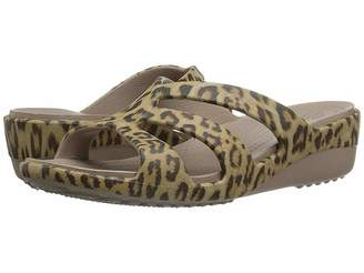 Crocs Sanrah Graphic Strappy Wedge Women's Shoes