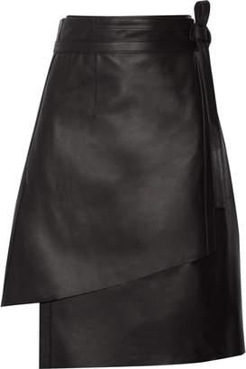 Acne Studios - Lakos Leather Wrap Skirt - Black