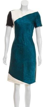 J. Mendel Paneled Sheath Dress
