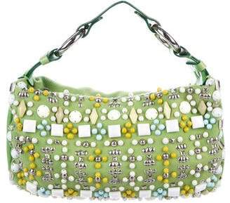 Chloé Embellished Canvas Hobo