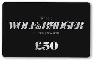 Wolf & Badger Gift Card £50
