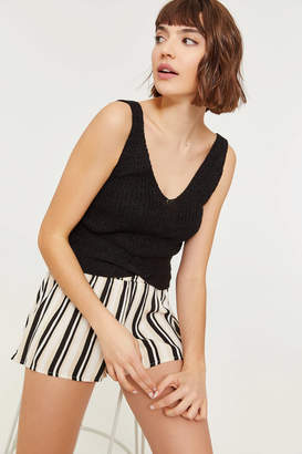 Ardene Striped Smocked Shorts