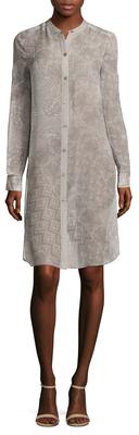 BCBGMAXAZRIATaylur Silk Printed Shirtdress