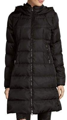 Vince Camuto Quilted Faux-Fur Down Coat