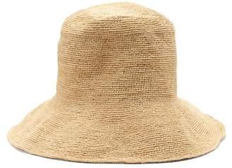 BEIGE Reinhard Plank Hats - Woven Raffia Bucket Hat - Womens