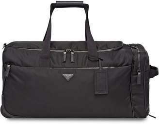 Prada Nylon and Saffiano leather wheeled carry-on
