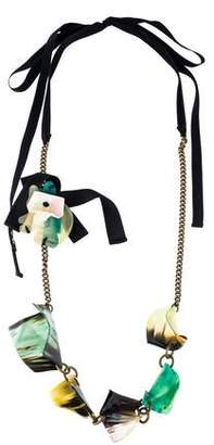 Marni Horn & Chain Necklace