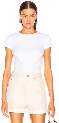673f4e8a5d Helmut Lang Ribbed Baby Tee in Optic White