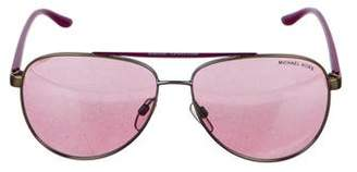 Michael Kors Mirrored Aviator Sunglasses
