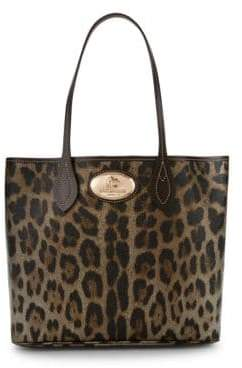 Roberto Cavalli Nero Leather Tote Bag