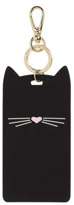 Kate Spade cat leash clip ID case