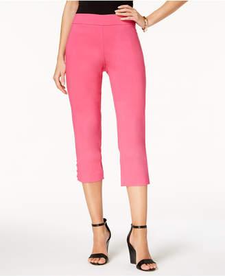 JM Collection Lattice-Hem Capri Pants, Created for Macy's