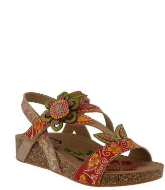 Spring Footwear Floral Applique Sandal