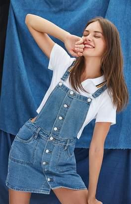 PacSun Button Front Denim Overall Dress